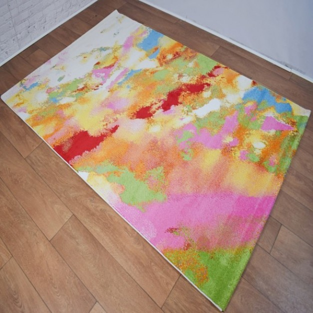 Abstract Multi-Coloured Area Rug