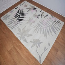 Floral Graduated Cream and Rose Area Rug