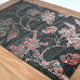 Natural Floral Graduated Black & Rust Red Area Rug