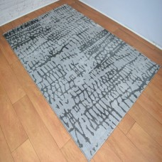 Abstract Lines Light and Dark Grey Area Rug