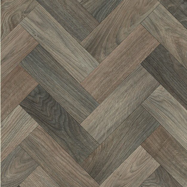 Beta Herringbone Medium Wood Vinyl
