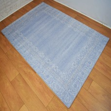 Traditional Border Blue and White Area Rug