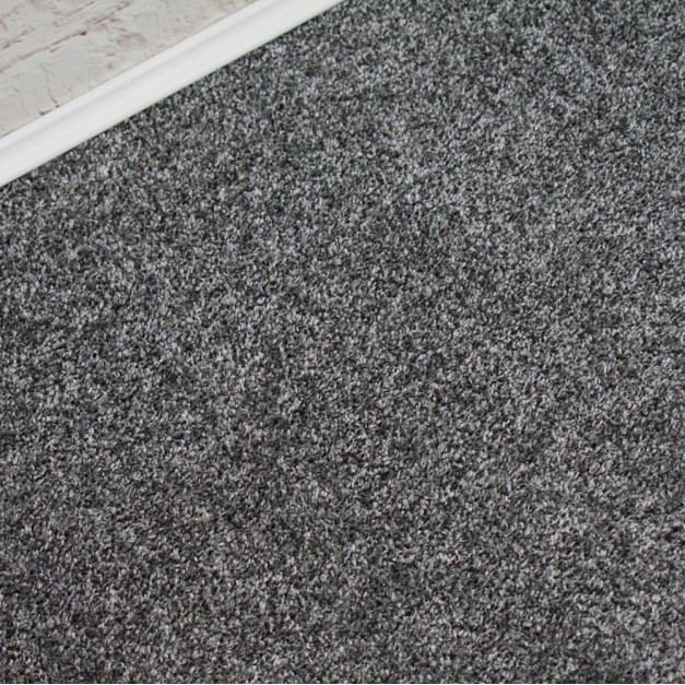 Conquest Silver Grey Twist Pile Carpet