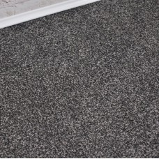 Comfort Black Grey Saxony Carpet